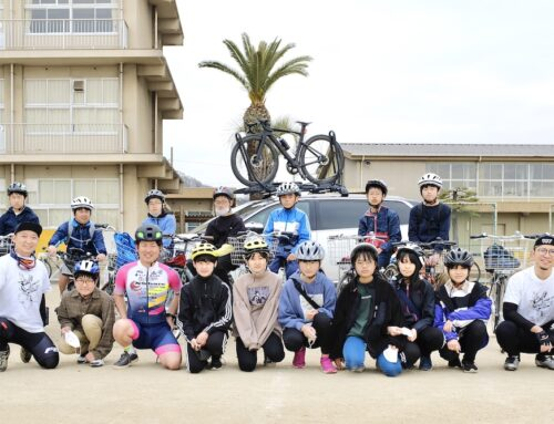 高島小6年生にむけて自転車安全教室開催